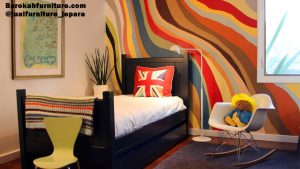 appealing-cool-wall-paintings-ideas-and-modern-nightstand-with-simple-little-chair-945x531